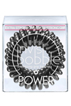 Invisibobble POWER True Black - Invisibobble POWER True Black резинка для волос черная, 3 шт