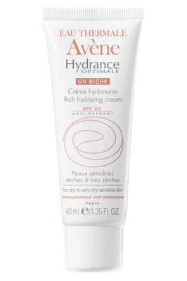 Avene Hydrance Optimale Rich Hydrating Cream SPF 20 - Avene крем увлажняющий для сухой кожи SPF 20