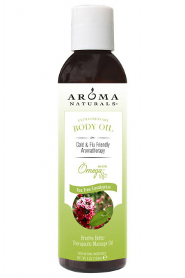 Aroma Naturals Extraordinary Body Oil Tea Tree Eucalyptus Breathe Better Therapeutic Massage Oil - Aroma Naturals масло стимулирующее для массажа тела