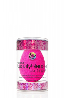Beautyblender Original + Blendercleanser Solid Mini - Beautyblender спонж розовый + твердое мини-мыло
