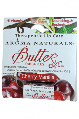 Aroma Naturals Therapeutic Lip Care Butter-X Cherry Vanilla - Aroma Naturals бальзам для губ со вкусами вишни и ванили